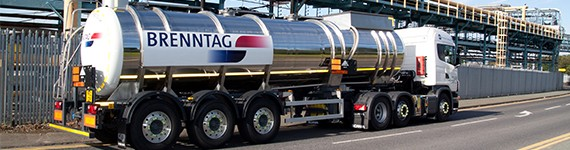 Inorganics tanker on road