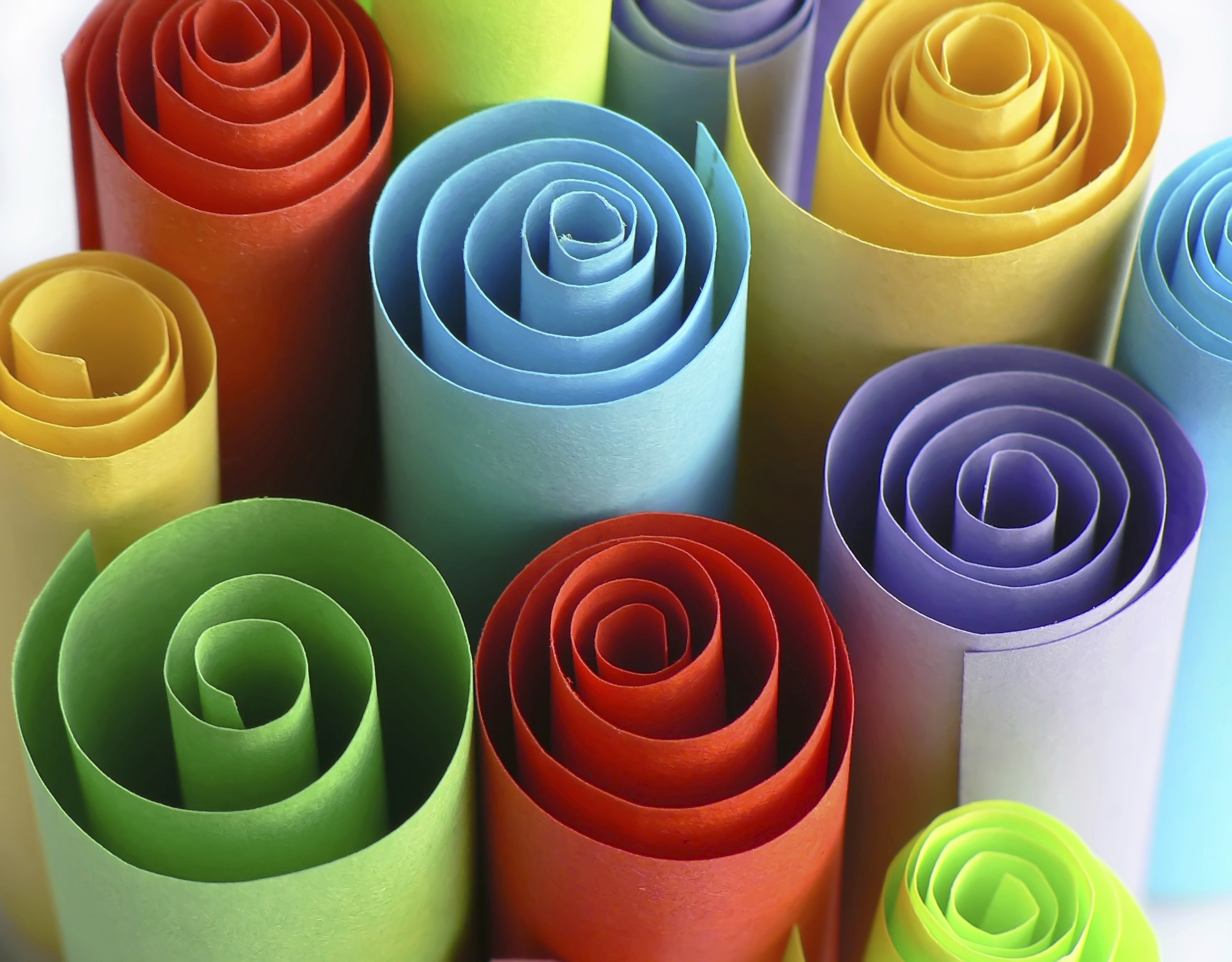 Colorful Rolls of Paper