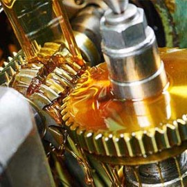 lubricating a gear with oil