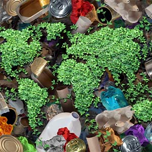 Environmentally safe, sustainable recyclables