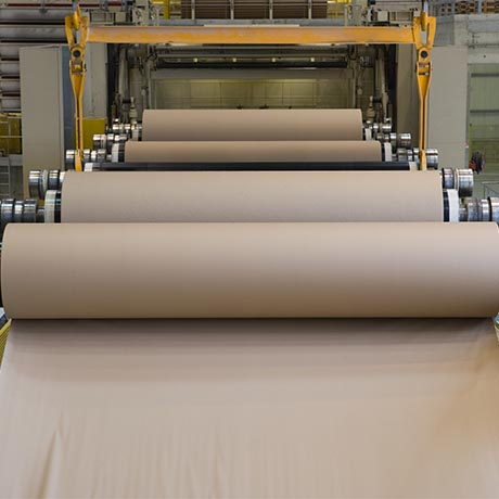 Brown paper getting processed