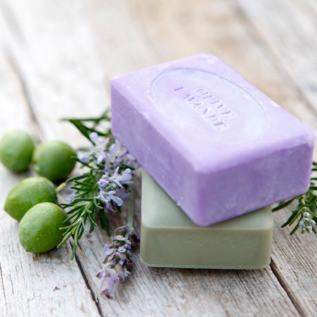 bars of soap with olives