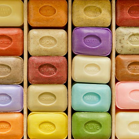 Colorful bar soaps
