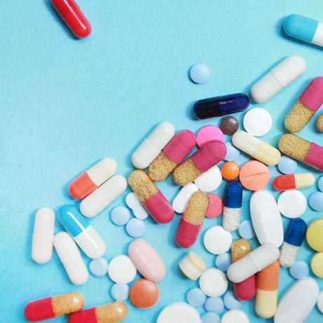 Colorful pharmaceutical pills