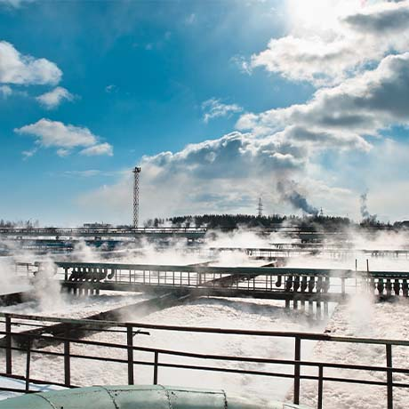 Steamy water treatment plant