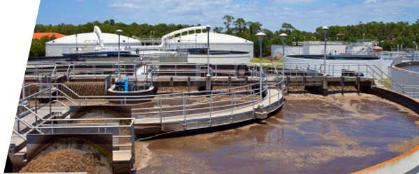 waste water filtering tank at a waste water treatment plant