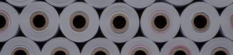 rolls of white paper