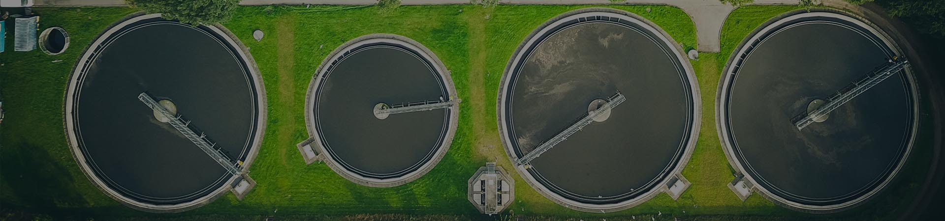 Aerial view of a water treatment plant