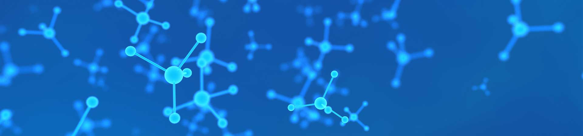 Blue chemistry molecules