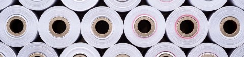 Full frame shot of paper rolls