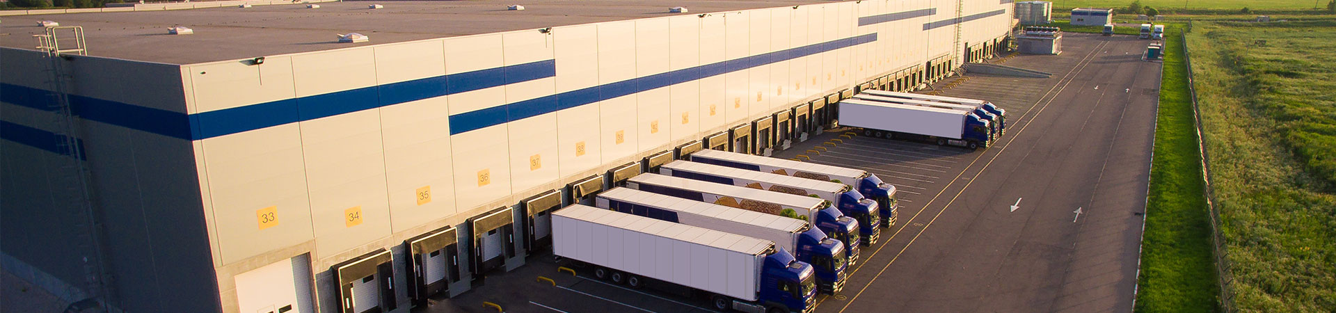 Trucks at a Distribution Site