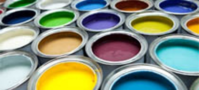 Cans of Paint Produced with Chemicals