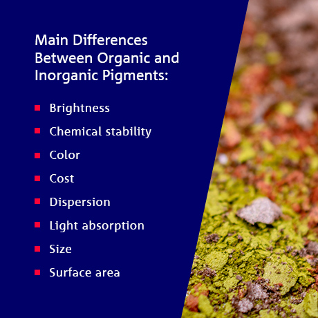 Main Differences Between Organic and Inorganic Pigments List