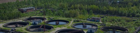 Water treatment plant protecting environment