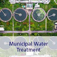 Birds eye view of Municipal water plant