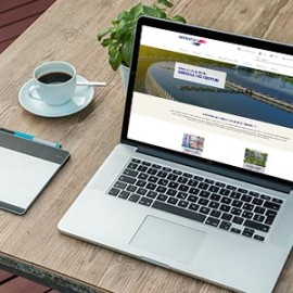Brenntag's Water Treatment industry page on laptop