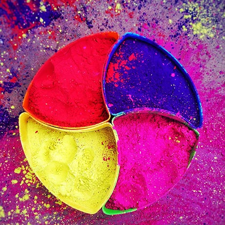 Colorful pigments in wheel