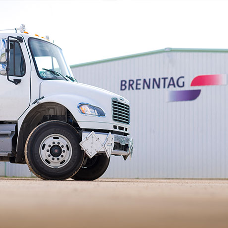 Brenntag warehouse and truck